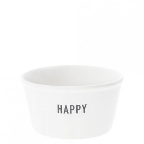 Miska HAPPY, černá, 7,5x9,5x5 cm