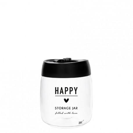 Dóza HAPPY, STORAGE, černá, 11x13 cm, 1 ks