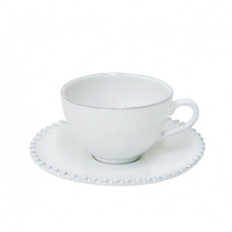 Šálek na kávu PEARL, 100 ml, bílá