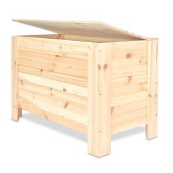 Dřevěná truhla 77 x 40 x 50 cm - přírodní