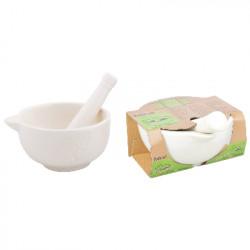 Hmoždíř, pesto set, bílá, keramika