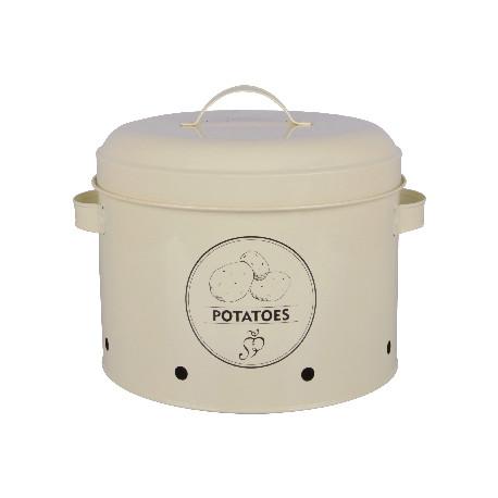 Dóza na brambory, krémová bílá, SECRET du POTAGER
